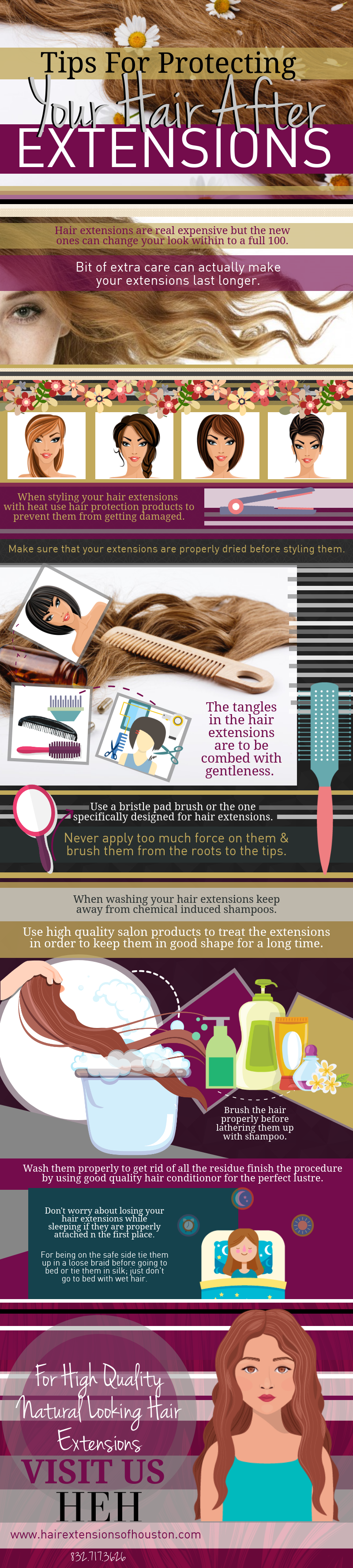 Tips for Protecting Your Hair After Extensions