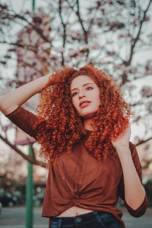 Natural Red Curly Hair