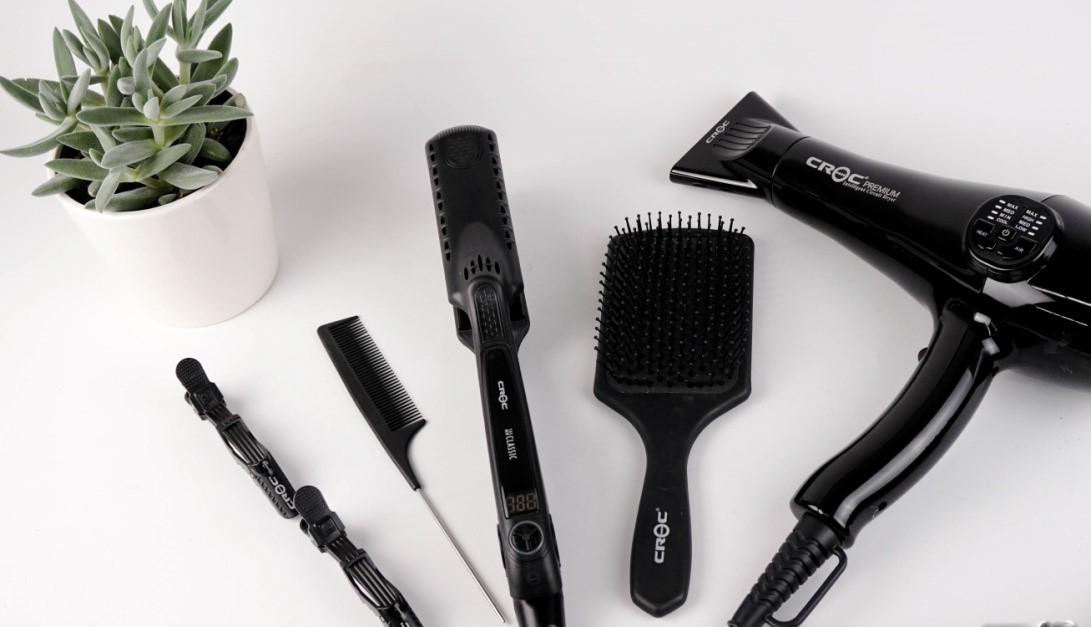 Hair Styling Tools On Display